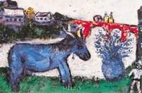 Blue Donkey Fine Art Print