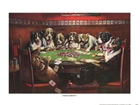 "Poker Sympathy by Cassius Marcellus Coolidge - 16"" x 12"""