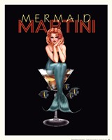 Mermaid Martini Fine Art Print