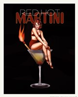 Red Hot Martini Framed Print