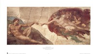 "Creation of Man by Michelangelo Buonarroti - 22"" x 13"""