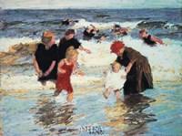 """Bathers by Edward Henry Potthast - 18"""" x 15"""""""