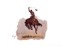 "Running Bucker by Frederic Remington - 16"" x 12"""