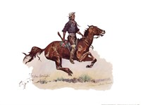 "Crow Scout by Frederic Remington - 16"" x 12"" - $10.49"