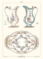 """Pitchers and Tray by Sevres -anon. Porcelain - 11"""" x 14"""", FulcrumGallery.com brand"""