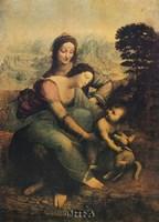 "The Virgin, Child, and St. Anne by Leonardo Da Vinci - 12"" x 19"""