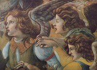Angels (Detail from The Coronation) Fine Art Print