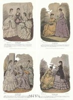 "French Fashion Set (Set of Four) by Heloise Leloir - 11"" x 18"""