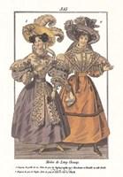 "Millinery Modes - vintage dresses by Robert John Thornton - 9"" x 11"""