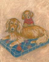 "Dachsunds by Carol Ican - 9"" x 11"""