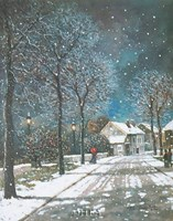"Village in Winter by Thelma leaney Butler - 11"" x 14"""