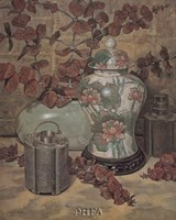 "Eucalyptus with Lotus Vase by Francie Botke - 12"" x 16"" - $10.99"