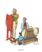 """Chilly Reception by Norman Rockwell - 9"""" x 11"""""""