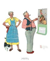 """New Year Look by Norman Rockwell - 9"""" x 11"""""""