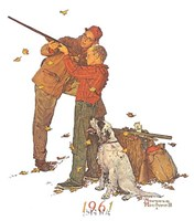 "Careful Aim by Norman Rockwell - 9"" x 11"""