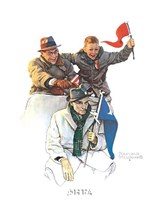 """Cheering the Champs by Norman Rockwell - 9"""" x 11"""""""