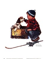 A Boy Meets His Dog Fine Art Print