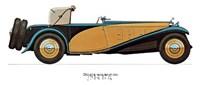 """Delage 1933 by Carol Ican - 16"""" x 12"""""""