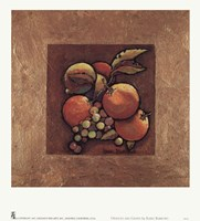 Oranges and Grapes Framed Print