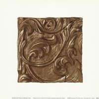 Copper Leaf Frieze Framed Print