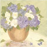 "Sun Porch Hydrangeas I by Patricia Roberts - 12"" x 12"""