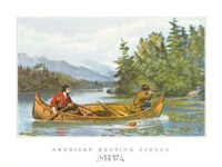 """American Hunting Scenes by Currier and Ives - 16"""" x 12"""""""
