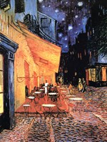 "Open Air Cafe by Vincent Van Gogh - 24"" x 32"""