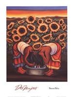 "Dos Mujeres by Simon Silva - 15"" x 20"""