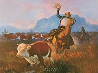 "Round Up Time by George Phippen - 21"" x 18"" - $12.99"