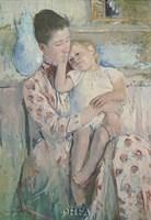 "Mother & Child by Mary Cassatt - 17"" x 22"", FulcrumGallery.com brand"