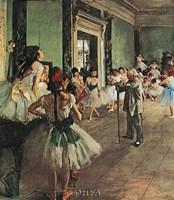 "Dancing Class by Edgar Degas - 20"" x 23"", FulcrumGallery.com brand"
