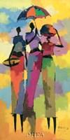 """Harar Woman II by Aklilu Temesgen - 13"""" x 25"""""""
