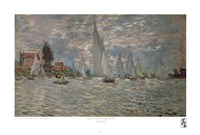 "Boats, Regatta at Argenteuil by Claude Monet - 22"" x 14"""