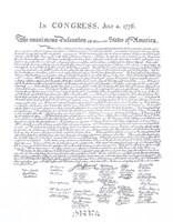 Declaration of Independence Fine Art Print