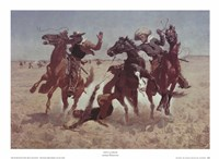 "Aiding a Comrade by Frederic Remington - 22"" x 16"""