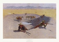"Fight for the Waterhole by Frederic Remington - 23"" x 16"""