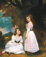"The Beckford Children by George Romney - 19"" x 24"""