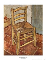 "Chair and the Pipe by Vincent Van Gogh - 14"" x 18"""