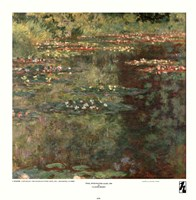 "Pool with Waterlilies, 1904 by Claude Monet, 1904 - 17"" x 17"""