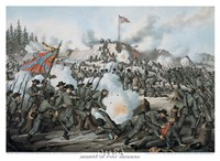 "Assault on Fort Sanders by Kurz and Allison - 24"" x 19"""