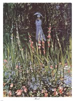 Madame Monet in Her Garden at Giverny Fine Art Print