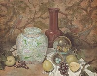 "Ginger Jar with Bird Nest by Francie Botke - 24"" x 20"""