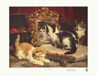 """Kittens, 1893 by Charles Van den Eycken, 1893 - 22"""" x 18"""", FulcrumGallery.com brand"""