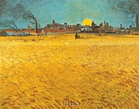 "Cornfields Near Arles by Vincent Van Gogh - 22"" x 18"""