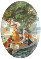 "Boating Party by Maurice Leloir - 18"" x 22"""