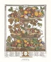 June/Twelve Months of Fruits, 1732 Framed Print
