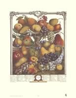 November/Twelve Months of Fruits, 1732 Fine Art Print