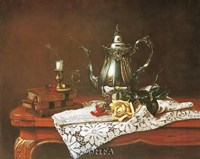 Still Life with Yellow Rose Fine Art Print