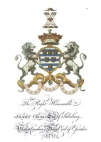 Coat of Arms - James Cecil of Salisbury Fine Art Print