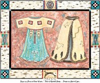 Dance in a Dress of the Four Winds Fine Art Print